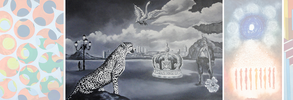 CROWN And JAGUAR - Acrylic on Canvas. By Prashant Salvi