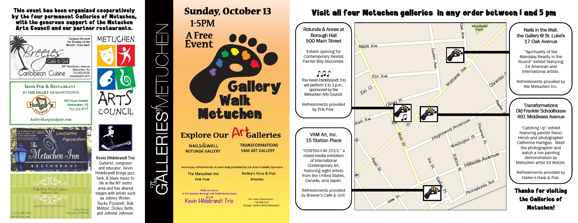 Gallery Walk Metuchen 2013